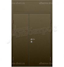 Двухстворчатая металлическая дверь 03-84