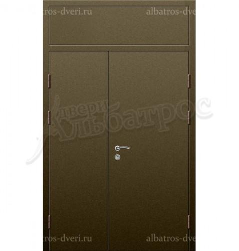 Входная двухстворчатая металлическая нестандартная дверь 03-84