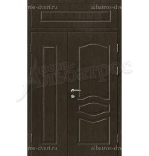 Входная двухстворчатая металлическая нестандартная дверь 03-85