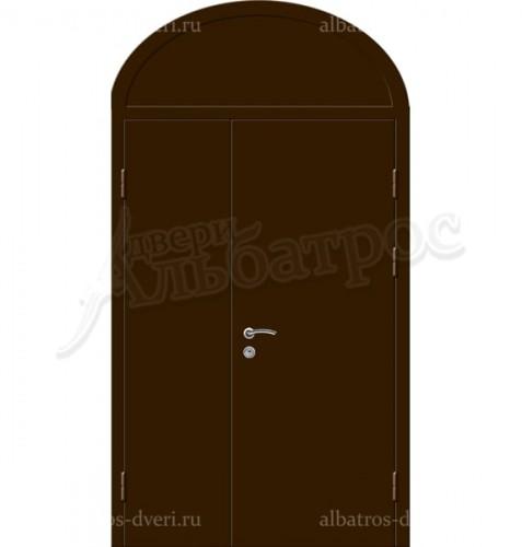 Входная металлическая нестандартная дверь 03-87