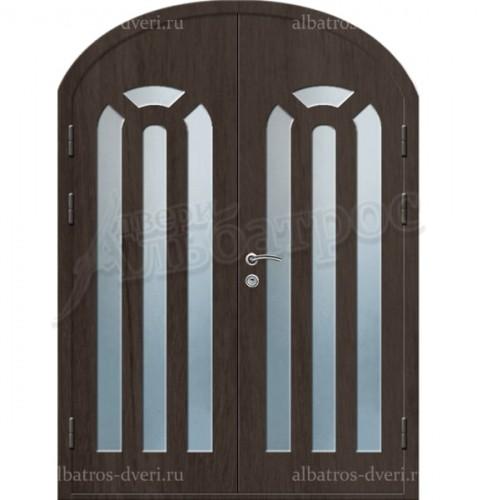 Входная двухстворчатая металлическая нестандартная дверь 03-88