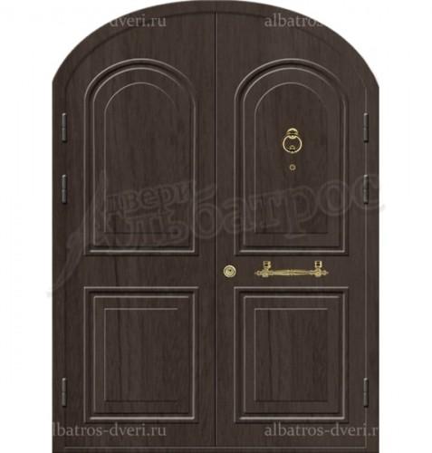 Входная двухстворчатая металлическая нестандартная дверь 03-89