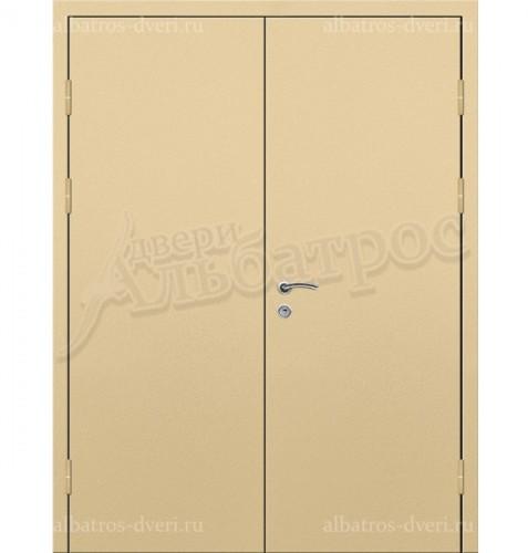 Входная двухстворчатая металлическая нестандартная дверь 03-94
