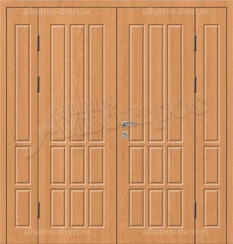 Входная двухстворчатая металлическая нестандартная дверь 03-96