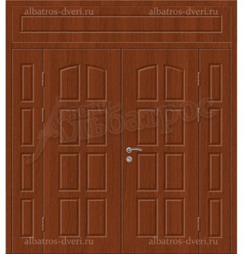 Входная двухстворчатая металлическая нестандартная дверь 03-97