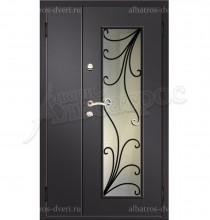Двухстворчатая металлическая дверь 00-15
