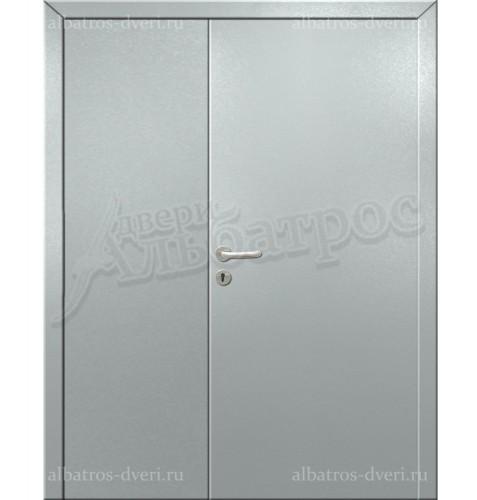 Двухстворчатая металлическая дверь 00-41