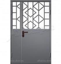 Двухстворчатая металлическая дверь 00-56