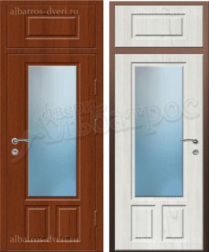 Входная металлическая нестандартная дверь 03-77