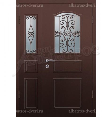 Парадная металлическая дверь в загородный дом, коттедж 13-002
