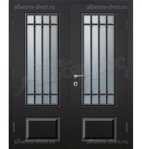 Парадная металлическая дверь в загородный дом, коттедж 13-004