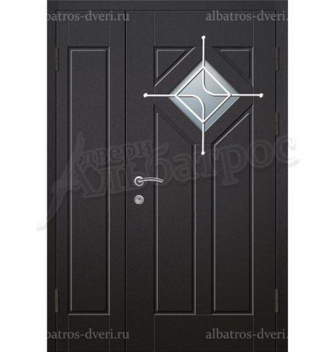 Парадная металлическая дверь в загородный дом, коттедж 13-008