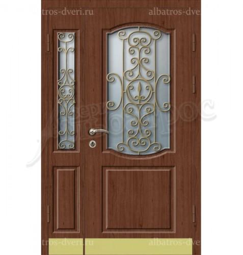 Парадная металлическая дверь в загородный дом, коттедж 13-010