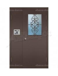 Двухстворчатая металлическая дверь 04-11