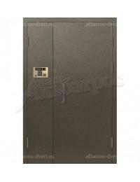 Двухстворчатая металлическая дверь 04-12