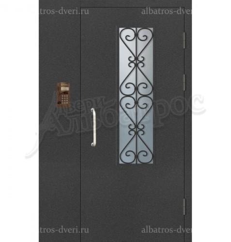 Входная металлическая дверь с домофоном в подъезд 04-13