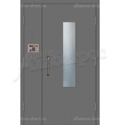 Двухстворчатая металлическая дверь 04-14