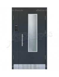 Двухстворчатая металлическая дверь 04-18
