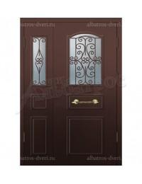 Двухстворчатая металлическая дверь 05-31