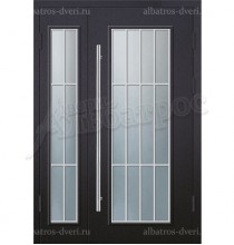 Двухстворчатая металлическая дверь 05-35