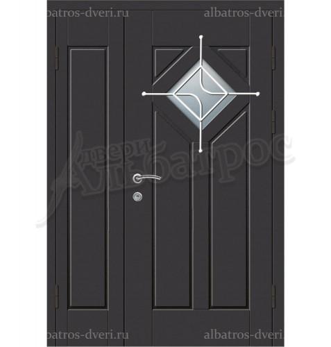 Двухстворчатая металлическая дверь 05-37
