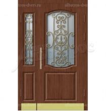 Двухстворчатая металлическая дверь 05-39