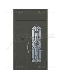 Двухстворчатая металлическая дверь 06-81