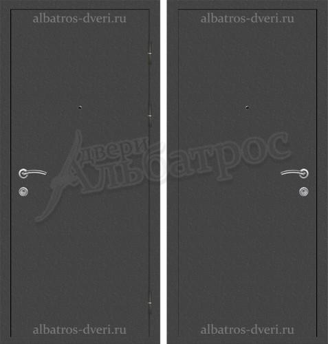 Металлическая дверь с порошковой отделкой Кожа серая 06-70