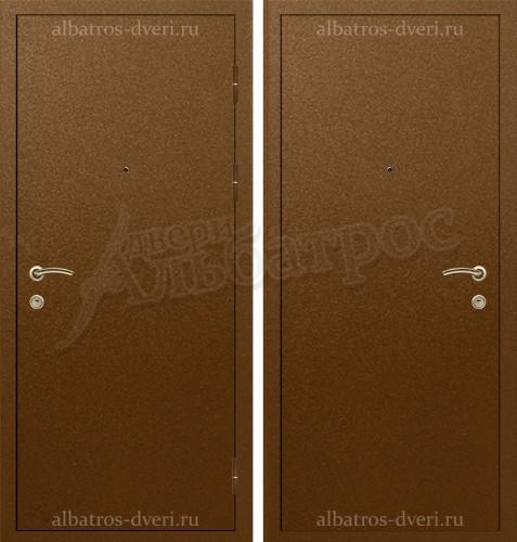 Металлическая трехлистовая дверь с порошковой отделкой Антик Бронза 06-76