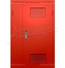 Двухстворчатая металлическая дверь 05-24