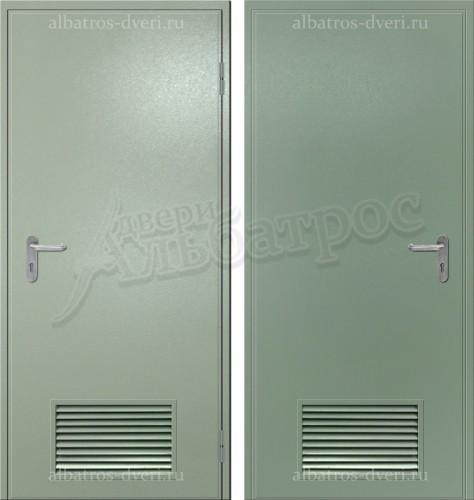 Техническая металлическая дверь с решеткой 05-25