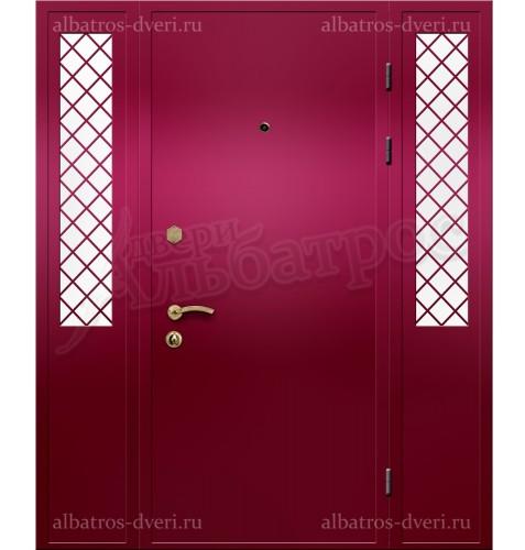 Техническая металлическая дверь с решеткой 05-27