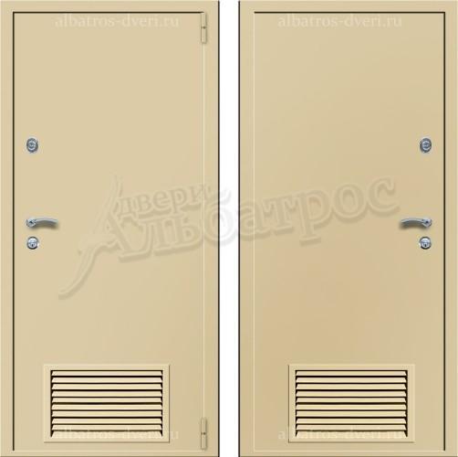 Техническая металлическая дверь с решеткой 05-28