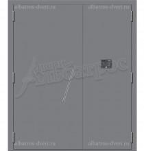 Двухстворчатая металлическая дверь 00-42