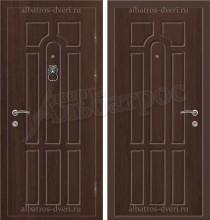 Элитная дверь с молотком в коттедж, модель 16-001