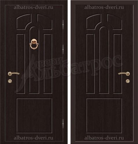 Элитная дверь с молотком в коттедж, модель 16-003