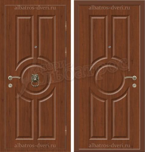 Элитная дверь с молотком в коттедж, модель 16-004