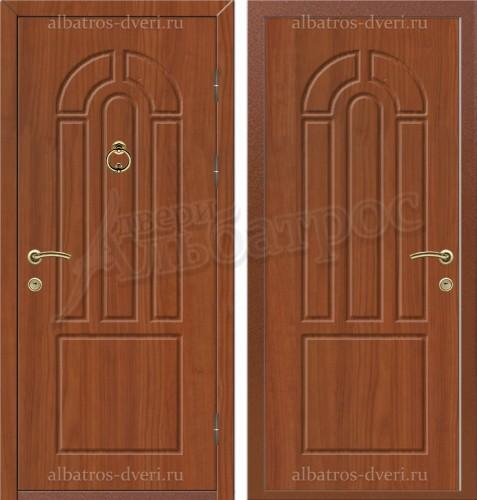 Уличная металлическая дверь, модель 12-001