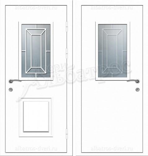 Уличная металлическая дверь, модель 12-007