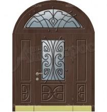 Уличная металлическая дверь, модель 12-006